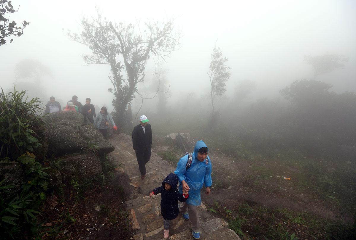 Tác phẩm: Tây Yên Tử huyền ảo trong sương sớm. Tác giả: Lê Danh Lam.