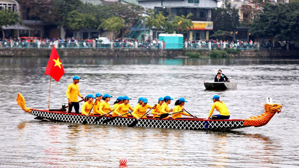 Hanoi open dragon boat race 2019 kicks off