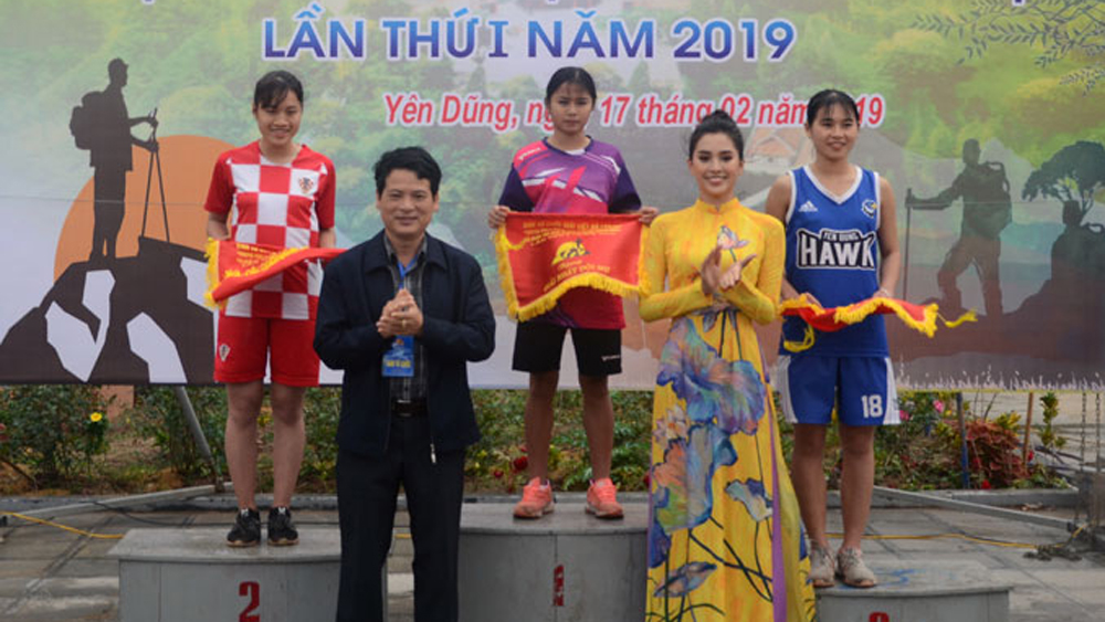 Exciting marathon, Bac Giang province, Conquering the legend Non Vua mountain peak, Nham Bien moment, mountain marathon, Culture-Tourism Week, Discovering the sacred land of Tay Yen Tu, Miss Vietnam 2018 Tran Tieu Vy, natural landscapes