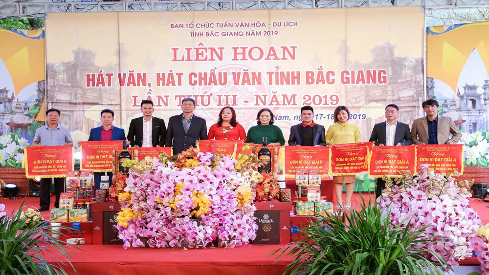 Liên hoan hát Văn, hát Chầu văn tỉnh Bắc Giang lần thứ III: Trao 45 giải cho các đoàn, tiết mục xuất sắc