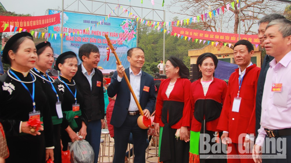 Sloonghao singing festival and upland spring kermis in Luc Ngan district