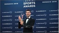 """Tay vợt Novak Djokovic xuất sắc đoạt danh hiệu """"Vận động viên nam của năm"""""""
