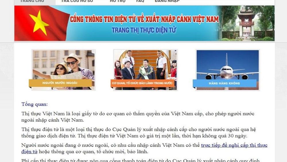 Việt Nam, thí điểm, cấp thị thực điện tử, công dân 35 nước