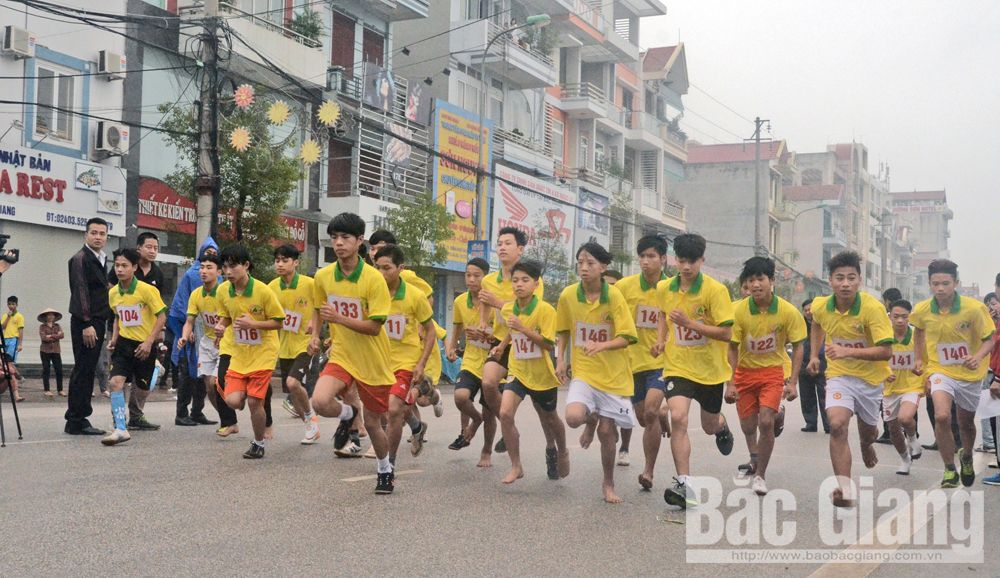 Dramatic contribution, sports movement, Bac Giang province, provincial sports sector, positive kick, sports practicing movement, active involvement, great potential, fierce competition, Bac Giang Newspaper Cup 2019