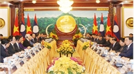 Tổng Bí thư, Chủ tịch nước Nguyễn Phú Trọng hội đàm với Tổng Bí thư, Chủ tịch nước Lào Bounnhang Vorachith