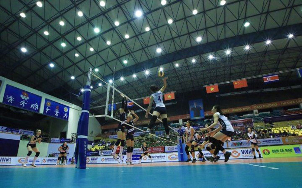 Int'l volleyball tournament, kicks off, Bac Ninh province, Women's Volleyball Tournament,  LienVietPostBank Cup 2019, multifunctional gymnasium, Vietnamese teams, domestic clubs