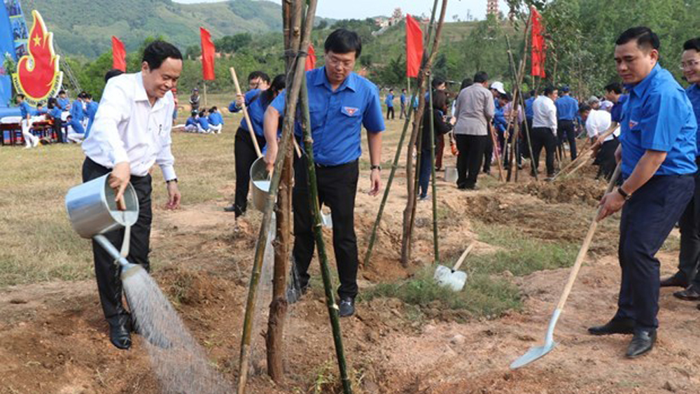 Youth month 2019, community development, Ho Chi Minh Communist Youth Union, Volunteer young people, tree planting festival