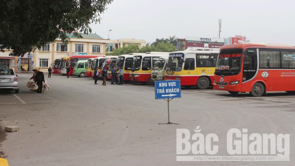 Bắc Giang: Giảm 50% số tuyến vận tải hành khách đi Hà Nội và một số địa phương