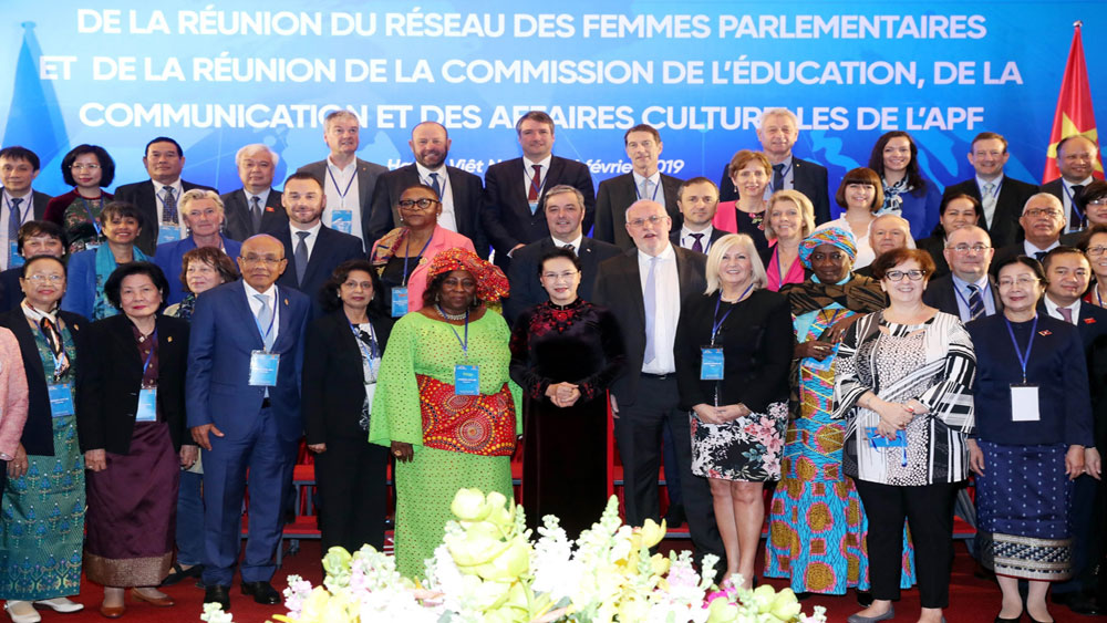 Khai mạc, Hội nghị mạng lưới nữ nghị sĩ, Hội nghị Ủy ban Giáo dục, Truyền thông, Văn hóa Liên minh Nghị viện Pháp ngữ