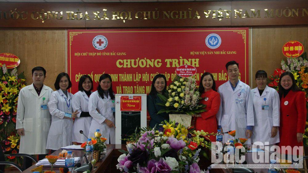 Thành lập, chữ thập đỏ, chi hội, bệnh viện sản nhi