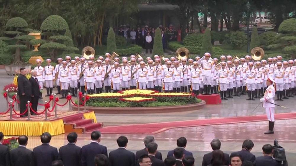 Lễ đón, Chủ tịch Triều Tiên Kim Jong-un, Hội nghị thượng đỉnh Mỹ Triều,
