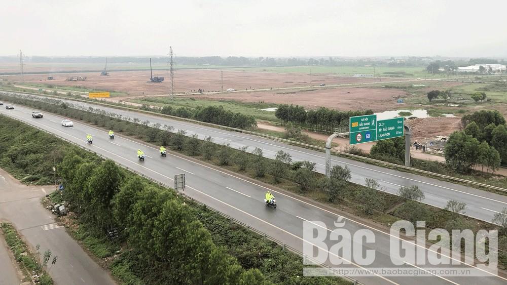 Quốc lộ 1, Cao tốc Hà Nội- Bắc Giang, Thượng đỉnh Mỹ - Triều, Cấm đường, Tỉnh Bắc Giang