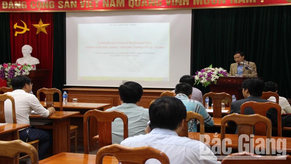Công bố, đồ án, quy hoạch, phân khu, khu số 4 TP Bắc Giang