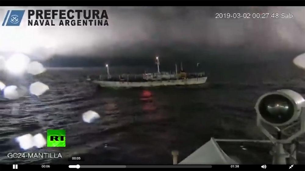 Tuần duyên Argentina nổ súng vào tàu Trung Quốc