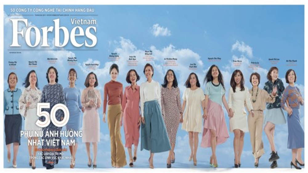 Forbes Vietnam's list of 50 most influential women revealed