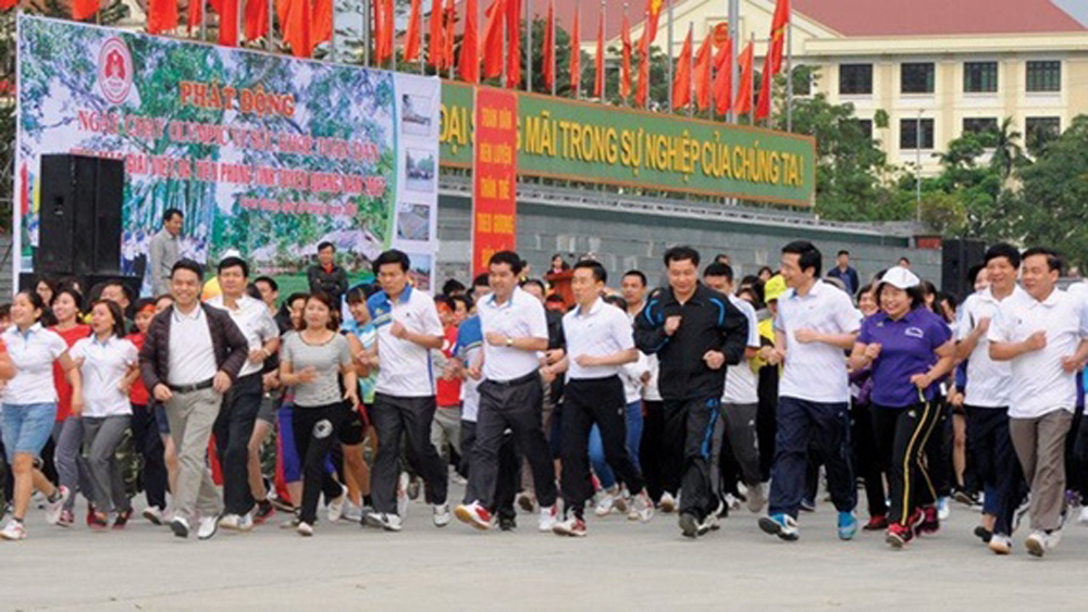 Olympic Run Day, Public Health, Vietnam Sports Administration, physical exercise, sports movement,  health and living quality