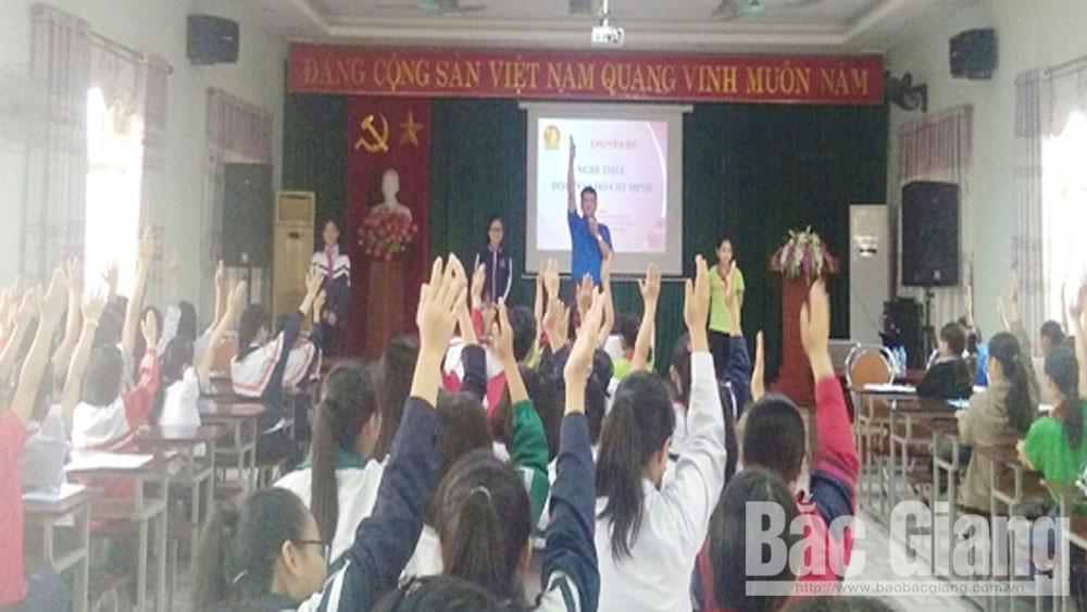 Thành đoàn Bắc Giang, tập huấn công tác Đội, năm 2019