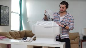 Máy giặt làm sạch quần áo trong 5 phút không cần điện