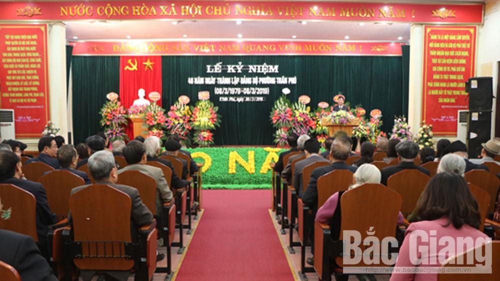 Phường Trần Phú, kỷ niệm 40 năm, thành lập Đảng bộ