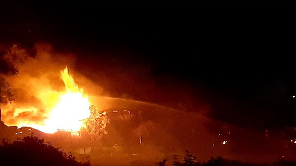 TP Hồ Chí Minh: Cháy lớn tại Công ty kho bãi miền Nam