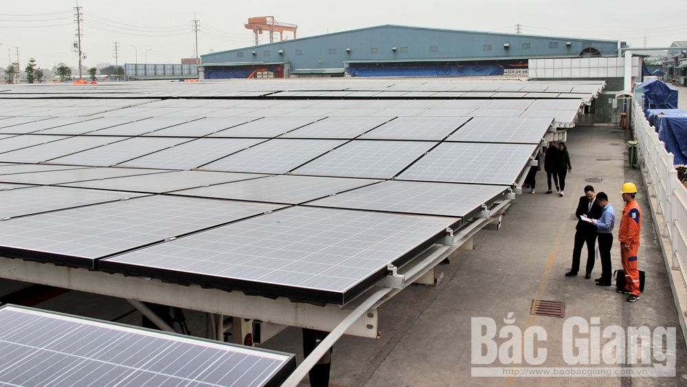 Vina Solar Technology, solar panel system, production system, Bac Giang province, Van Trung Industrial Park, Chinese enterprise