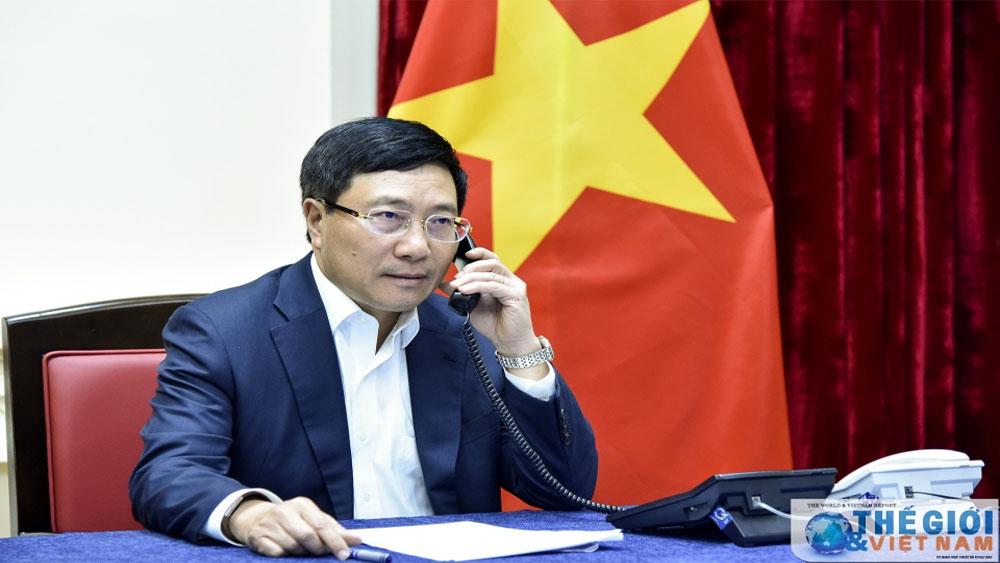 Phó Thủ tướng Phạm Bình Minh, điện đàm, Bộ trưởng Ngoại giao Malaysia, đề nghị trả tự do, công dân Đoàn Thị Hương