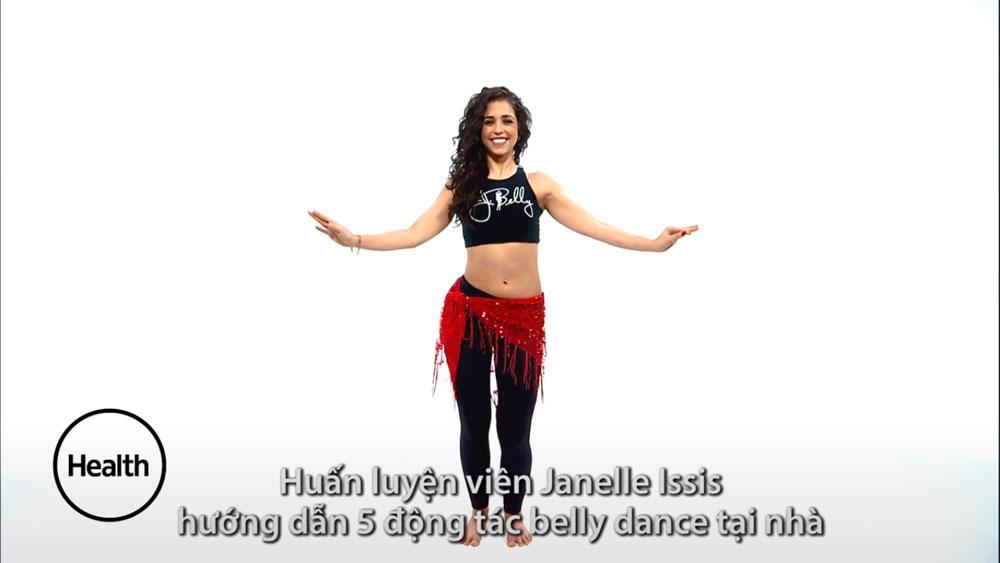 Tập belly dance tại nhà giúp đánh tan mỡ thừa