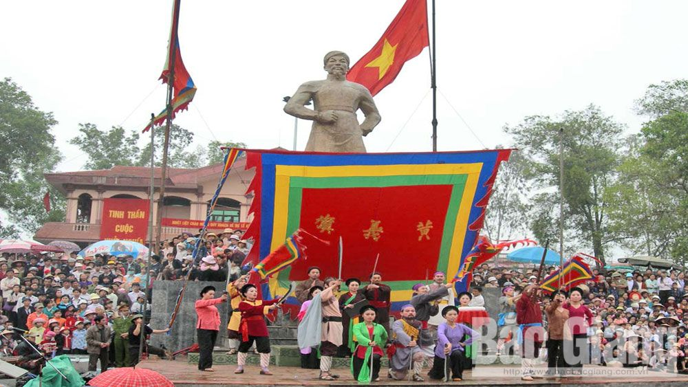 Yen The Festival, Bac Giang province, traditional values, spirit of martial arts, Yen The Uprising, farmer leader Hoang Hoa Tham, 135th anniversary, flag-worship, oath-taking ceremonies