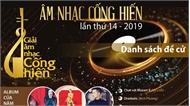 Danh sách đề cử giải âm nhạc cống hiến lần thứ 14 năm 2019