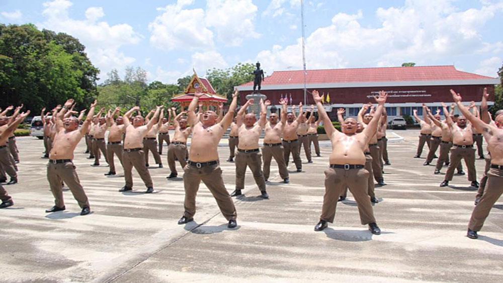 Trại 'tiêu diệt mỡ bụng', cảnh sát béo phì Thái Lan, Trung tâm Đào tạo cảnh sát ở Pak Chong