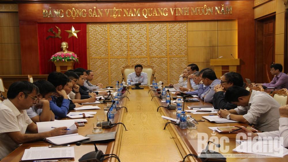 Bắc Giang, Bùi Văn Hải, Bí thư Tỉnh ủy, quy hoạch, xây dựng, đô thị, vật liệu xây dựng, cải cách thủ tục hành chính