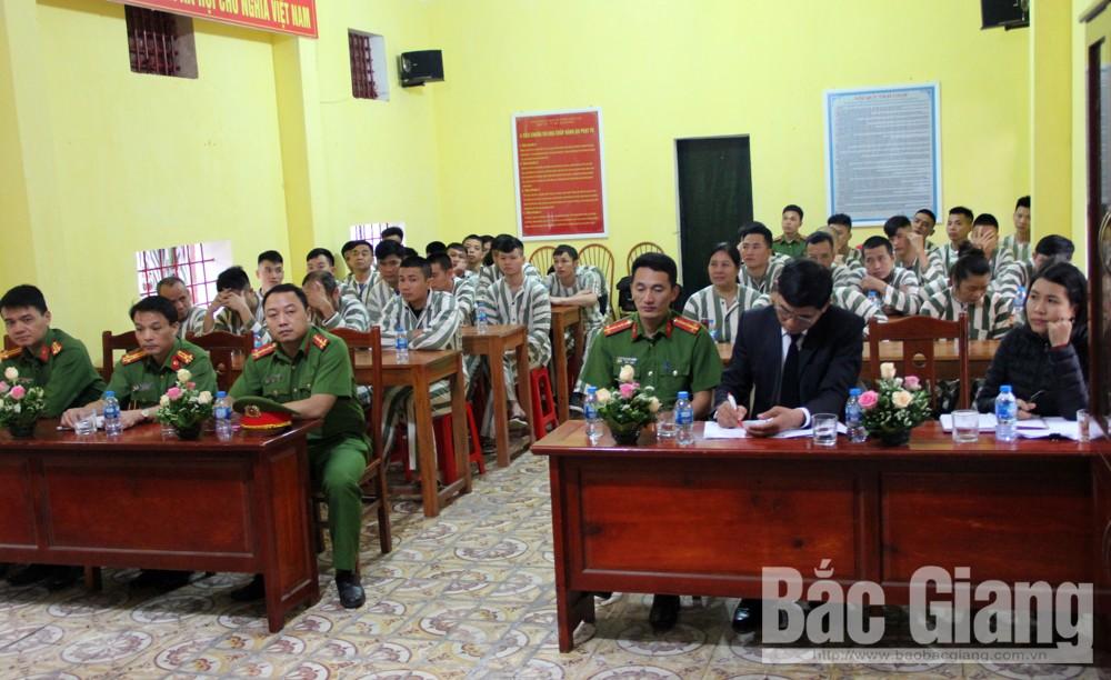 Phạm nhân, Trại giam Công an tỉnh Bắc Giang, Công an tỉnh Bắc Giang, tuyên truyền, phổ biến pháp luật