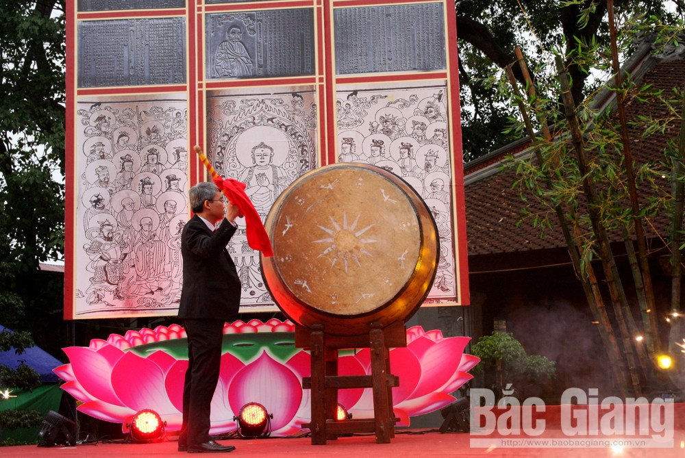 Khai hội, chùa Vinh nghiêm, huyện Yên Dũng, Mộc bản chùa Vình Nghiêm