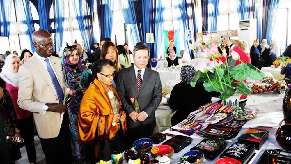 Vietnam's culture and cuisine, Algeria, international charity bazaar,  Vietnamese traditional martial art, lion-dance performances
