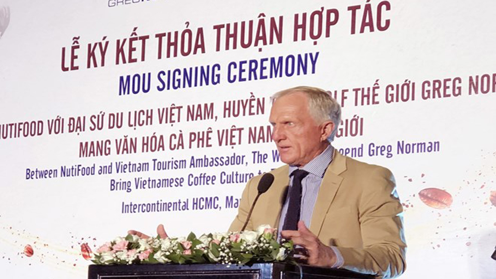 Golf legend, NutiFood, Vietnamese coffee, Greg Norman,  Tourism Ambassador of Vietnam, memorandum of understanding
