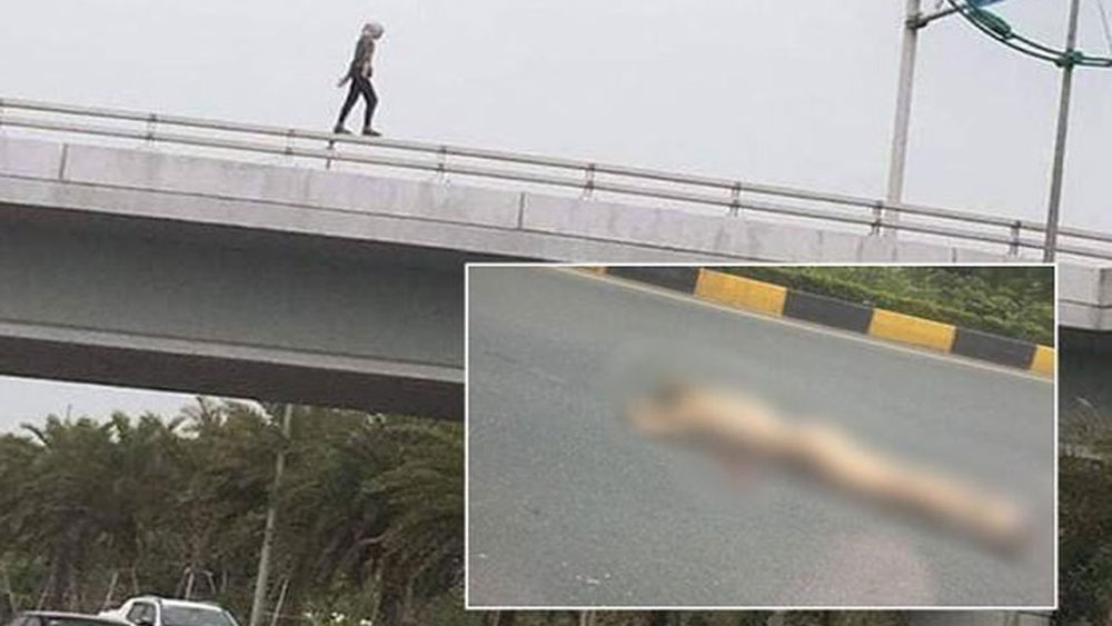 Hà Nội: cô gái ngoại quốc rơi từ cầu vượt xuống đường