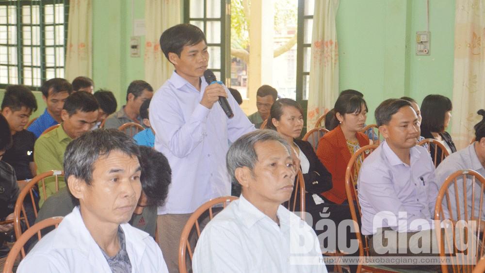 Bí thư Huyện ủy Lục Ngạn đối thoại với nhân dân, cán bộ và đảng viên xã Phong Minh, Sa Lý
