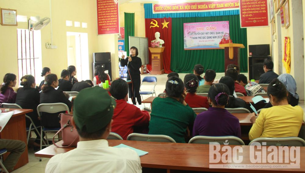 Bac Giang province, Cheo Theatre, Quan ho folk singing, Center of Culture and Cinema, cultural heritage, basic contents