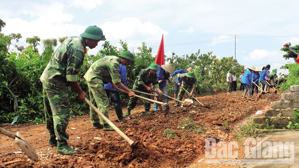 Bắc Giang, Sơn Động,  tình quân - dân, con đường