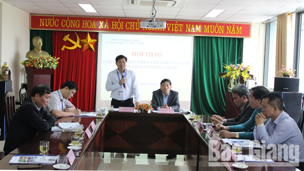 Ministry of Science and Technology, Bac Giang province, Dang Shen, Sam Nam Nui Danh, Tan Yen district, scientific project,