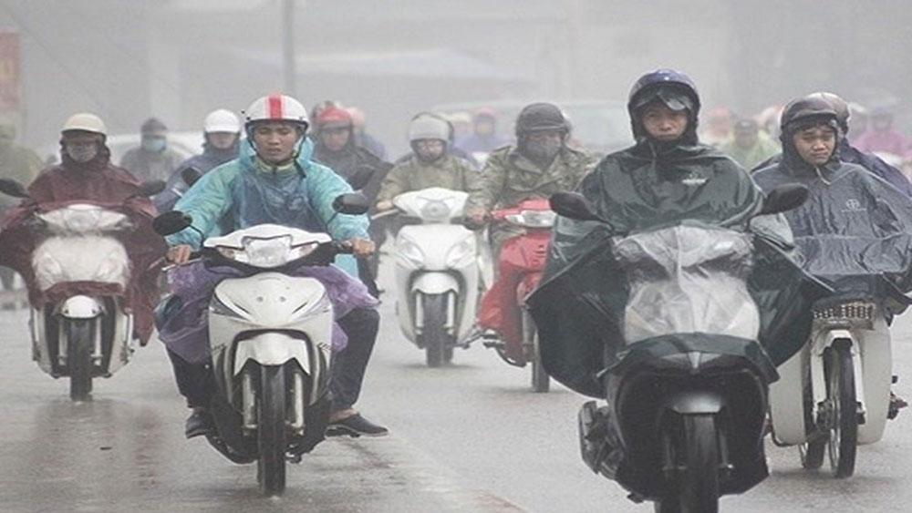 Dự báo thời tiết 24-3, cuối tuần, miền Bắc, mưa dầm gió rét