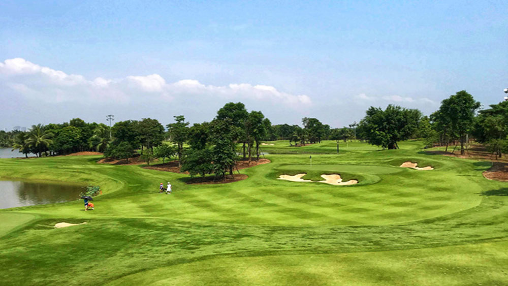 Hanoi golf course, title of world's best, World Golf Awards, Academy Course, Ecopark urban area, most beautiful view, national golf team