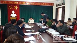 Ban An toàn giao thông tỉnh kiểm tra công tác bảo đảm trật tự an toàn giao thông tại Lục Nam
