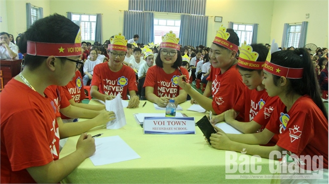 English competition among high-quality junior high schools in Bac Giang