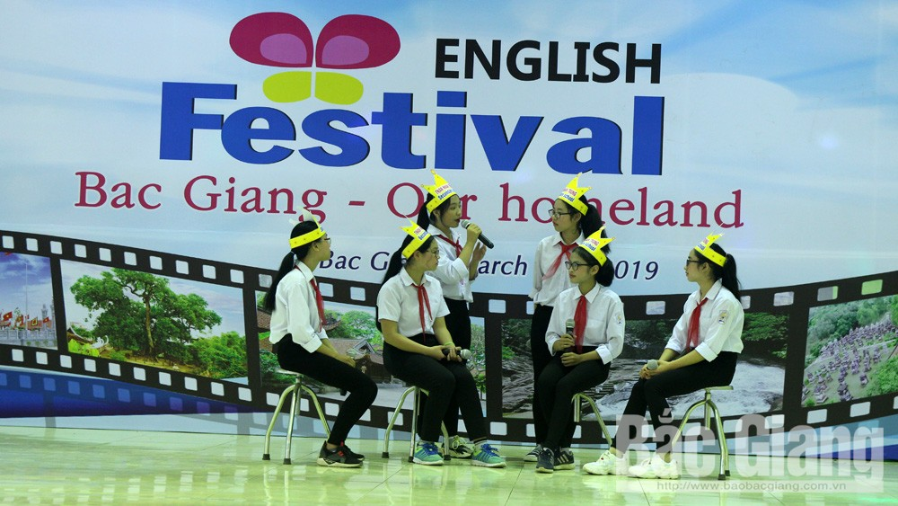 English competition, high-quality junior high schools, Bac Giang province, English exchange program, Le Quy Don, Thong Nhat English Center