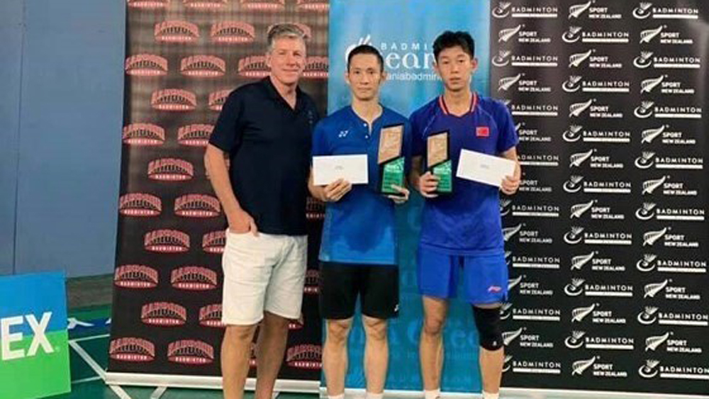Vietnamese player, badminton tournament, New Zealand, Nguyen Tien Minh, overall victory, Vietnamese players