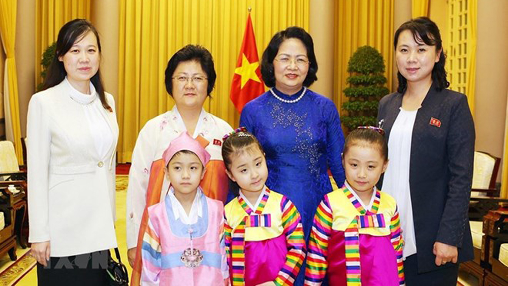Vice President, Dang Thi Ngoc Thinh, Vietnam, friendship with DPRK, traditional friendship, Democratic People's Republic of Korea, diplomatic ties