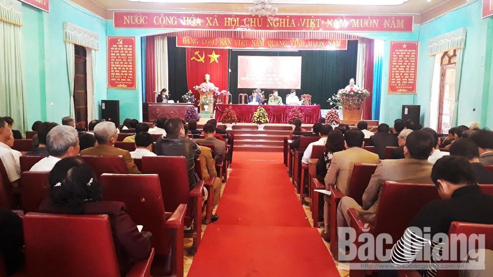 Đa số cử tri huyện Lục Nam đồng thuận với chủ trương sáp nhập thôn, tổ dân phố