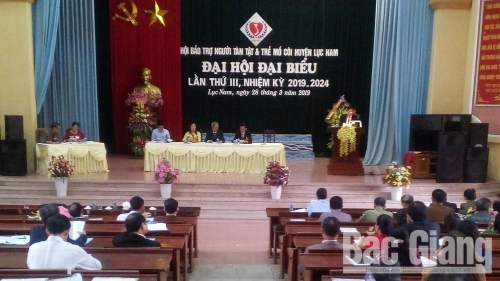 Đại hội đại biểu Hội Bảo trợ người tàn tật và trẻ mồ côi huyện Lục Nam