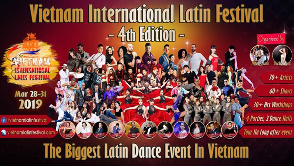 Hanoi,  Latin dance festival, international festival, VCCI Tower,  four-day event, world's top dancers, countries and territories